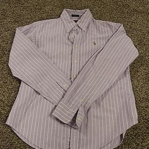 Ralph Lauren Polo purple button down shirt size 8